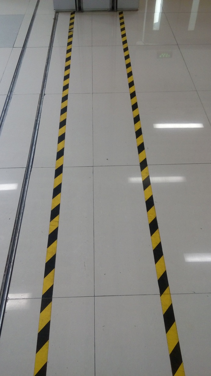 Corridor Door Factory Workshop Floor Safety Warning Self-adhesive Tape 5cm*17 meters corridor safety modeling via segmentation