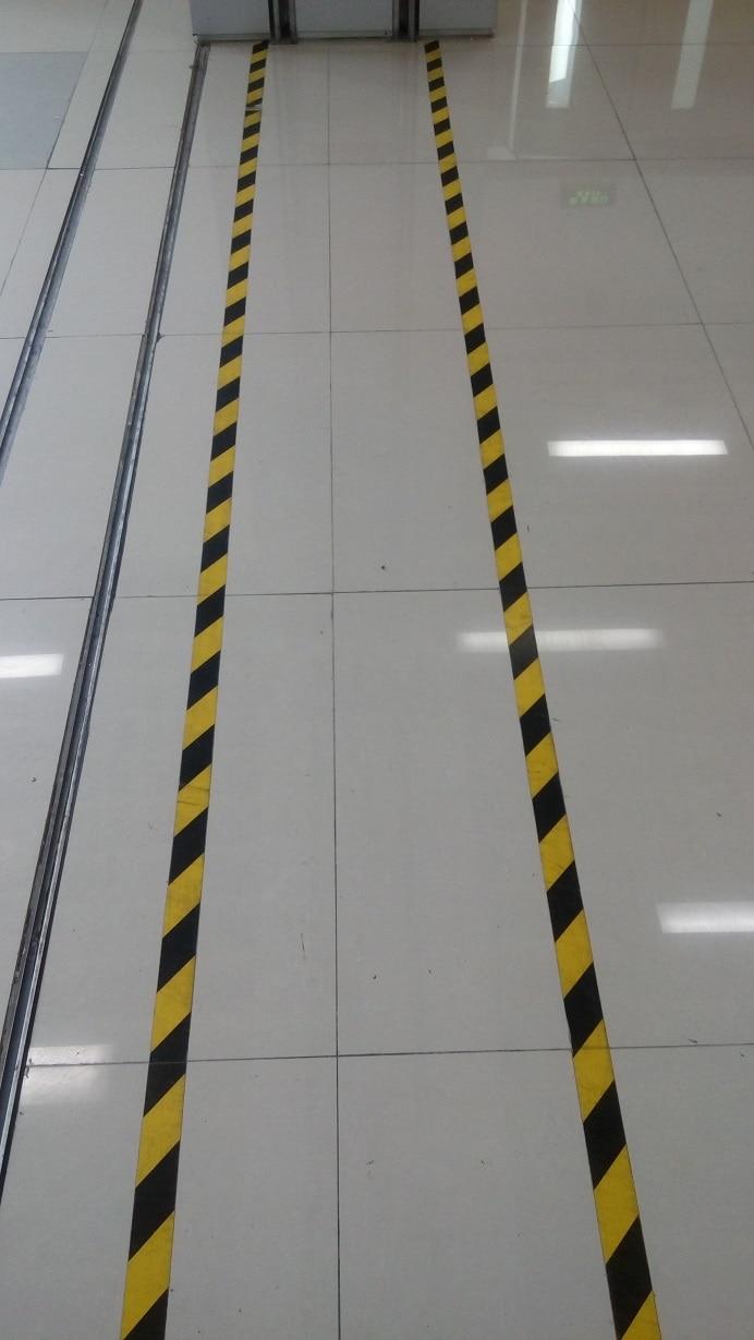 Corridor Door Factory Workshop Floor Safety Warning Self-adhesive Tape 5cm*17 Meters