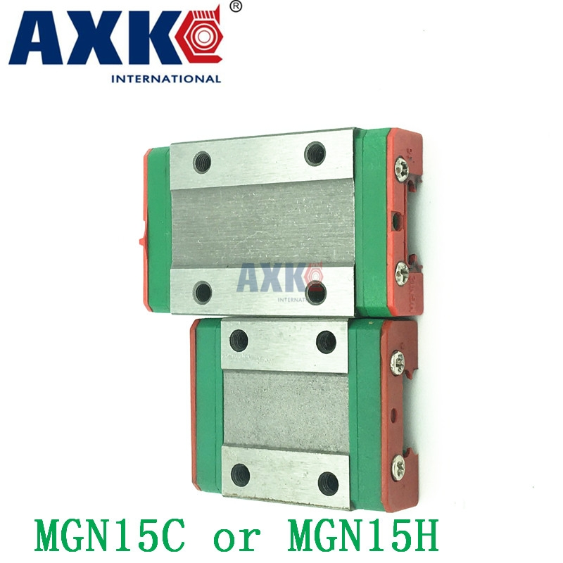 AXK 15mm Miniature Linear Guide Mgn15 L= 600mm/620mm/650mm Rail + 1pcs Mgn15h or MGN15C Cnc Block For 3d Printer Parts Xyz 1SET high quality 15mm precision linear guide rail 2pcs trh15 l 650mm 4pcs trh15a flange block for cnc
