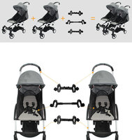 CY00209 3Pcs Baby Cart Assemble Connector Joint Linker for Yoyo Yoya Adjustable Length Folding Stroller Accessories for Stroller