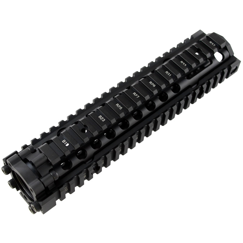 Hot sale Split type 9.6 inch Picatinny rail aluminum handguard rail system Black for AEG M4 / M16