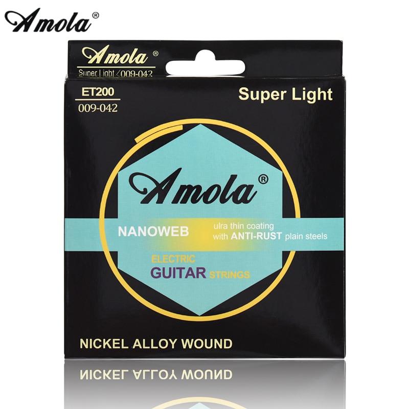 amola electric guitar strings 2sets 009 010 nanob strings bright tone round wound 010 046. Black Bedroom Furniture Sets. Home Design Ideas