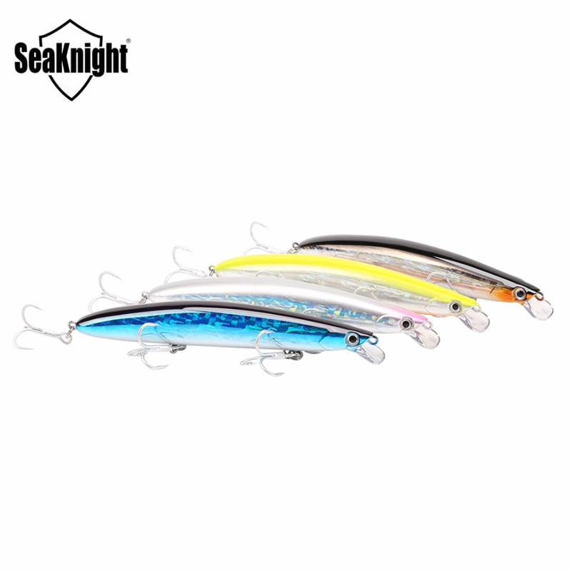 SeaKnight SK008 1PCS 20g 125mm 0.3~0.9m Minnow Fishing Lures 4 Colors Artificial Bait Wobbler Hard Bait Fishing Tackle Accessory wldslure 1pc 54g minnow sea fishing crankbait bass hard bait tuna lures wobbler trolling lure treble hook
