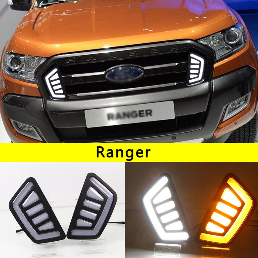 Здесь можно купить  LED Front Daytime Running Light Grille Light DRL for Ford Ranger Mk2 Facelift 2016 2017  Автомобили и Мотоциклы