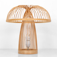 Бамбук настольные лампы ручной работы hotel прикроватная тумбочка для спальни Гостиная украшения одежды Деревянный Ретро настольные лампы ZA