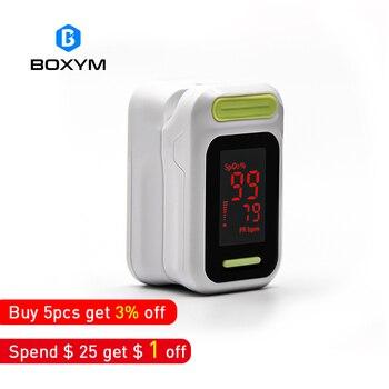 BOXYM Médica LED digital Dedo Oxímetro de pulso Monitor de Oxigênio No Sangue Saturação De Pulso Oxímetro de Cuidados de Saúde