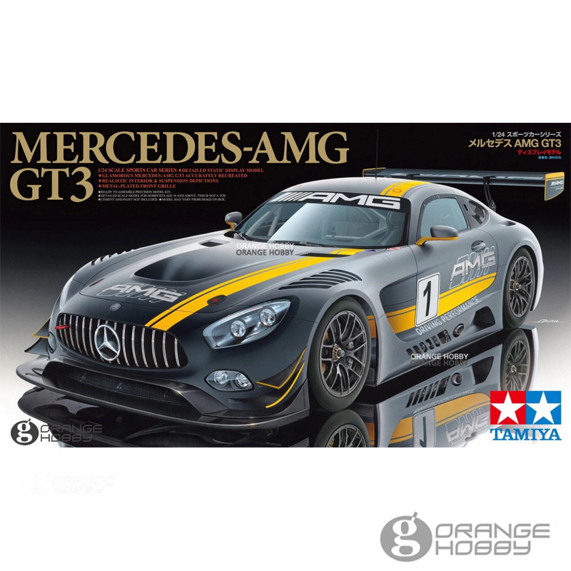 OHS Tamiya 24345 1/24 AMG GT3 Assembly Scale Car Model Building Kits G цена