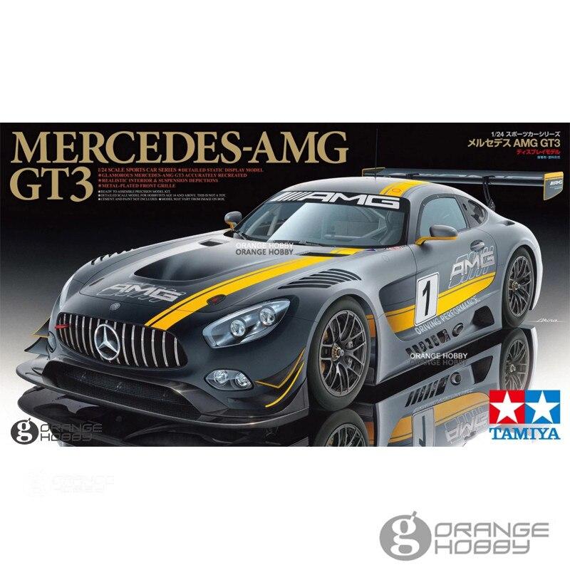 Oyuncaklar ve Hobi Ürünleri'ten Modeli Yapı Setleri'de OHS Tamiya 24345 1/24 AMG GT3 Montaj Ölçeği Araba Modeli Yapı Kitleri G'da  Grup 1