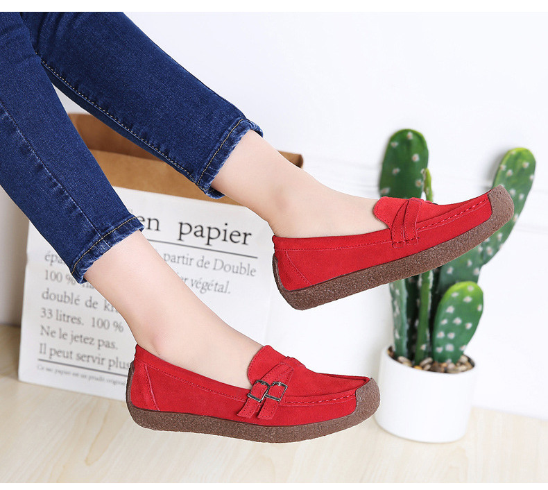 HX 7732-2019 Spring Autumn New Arrival Genuine Leather Women Flats Shoe-18