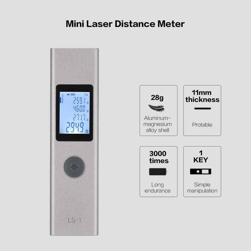 LS1 40m Mini Digital Handheld Laser Distance Meter Rangefinders Diastimeter Area Volumn Range Finder Pen Length Measure Tools