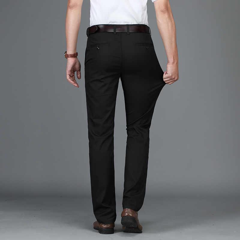 男性パンツカジュアル高品質クラシックファッション男性のズボンのビジネスフォーマル全身 2019 新ストレートメンズパンツプラスサイズ