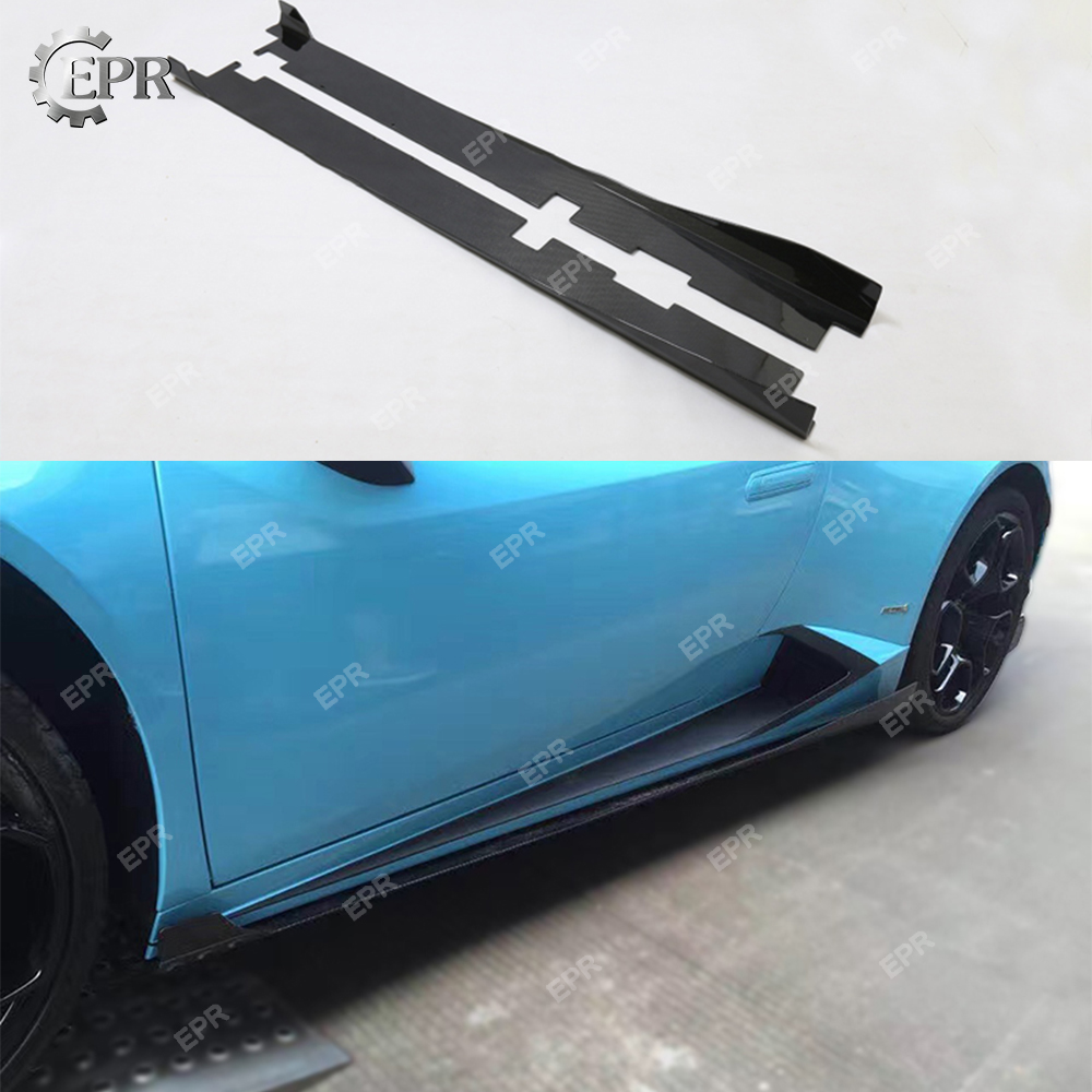For Lamborghini Huracan Lp610 Dmc Style Carbon Fiber Side Skirt Extension Body Kits Tuning Trim Accessories For Lp610 Pleasant To The Palate 2014+