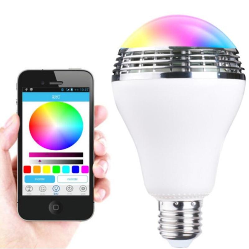 Lecteur de musique sans fil enceinte LED intelligent E27 ampoule 5 W avec télécommande APP