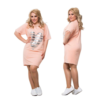 2020 New Women Vestidos Plus Size Summer Dress Maxi Oversized 6XL O Neck Casual Straight Patchwork Above Knee Mini Dresses Party 3
