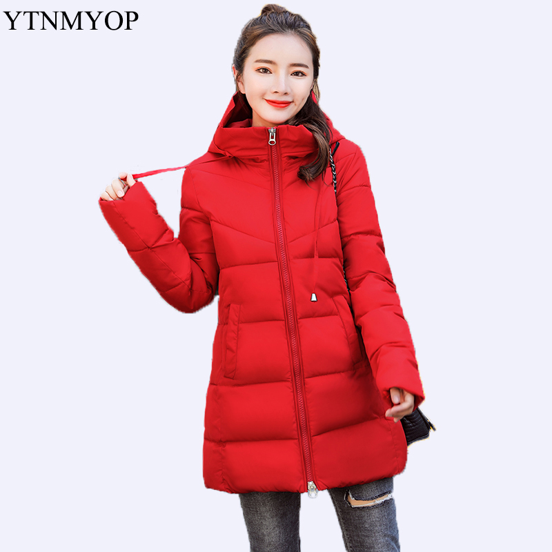 YTNMYOP 2019 Winter Jacket Women Student Warm Parkas For Girls Hooded Thickening Clothing Outwear Down Cotton Padded Coat Casual in Parkas from Women 39 s Clothing