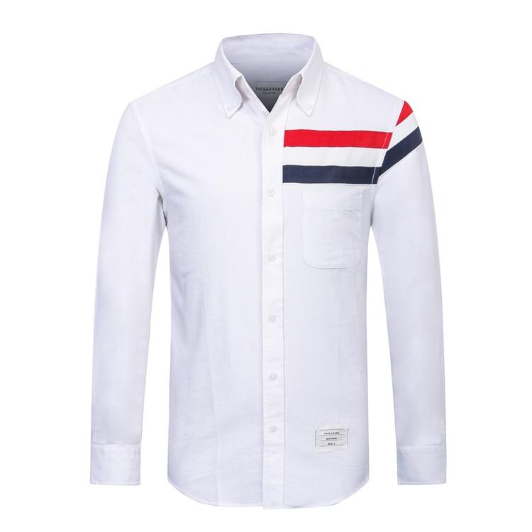 TACE & SAHRK Billionaire t shirt mannen 2017 lancering herfst commerce comfort effen kleur hoge kwaliteit gentleman gratis verzending-in T-shirts van Mannenkleding op  Groep 2
