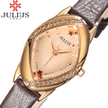 2017 popular mulheres marca julius senhoras relógio relógios menina rhinestone pulseira de couro fino relógio de pulso casual relogio feminino