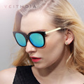 VEITHDIA TR90 Women's Sun glasses Polarized Mirror Lens Luxury Ladies Designer Sunglasses Eyewear For Women 8025