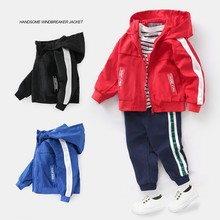 New Boys Sport Jacket Coat Teenage Autumn Children Windbreaker for Children Clothing 2-8T Girls Kids Clothes Hooded Boys Outwear children boys winter jacket kids clothes long hooded warm down jacket 2018 girls coat outwear teenage boys clothing 8 12 14 year