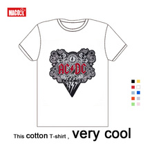 New AC/DC Summer Kids Band Rock T-shirt O-Neck White T Shirt ACDC Graphic Baby O Neck Hip Hop Short Sleeve Cotton Shirts