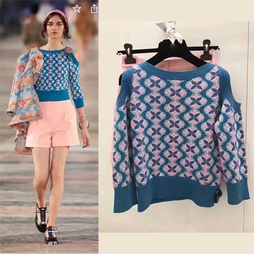 De Vêtements Chandails Sweater match Chandail Et Femme Incroyable Femmes Tricoté Pulls Pull 2017 Chandails Jacket Outre Printemps L'épaule wZX0qxf