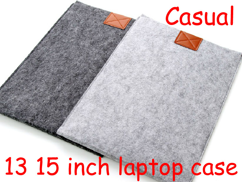13 15 inch felt Solid casual Shockproof dustproof environmental laptop notebook sleeve case bag