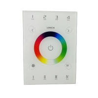 Ltech LED RGBW controller 2.4GHz RF Wireless and DMX512 AC 100V 240V Glass touch DMX control Led RGB RGBW Strip DC 5V Power