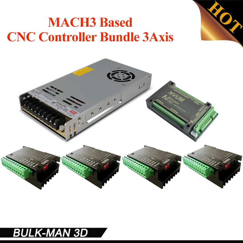 3 Axis CNC Controller Bundle,CNC Router Kit,TB6600 Stepper Motor Driver kit for OX CNC,Workbee and other CNC machine