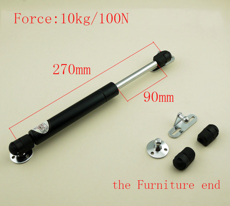 Free shipping 270mm central distance, 90 mm stroke, pneumatic Auto Gas Spring, Lift Prop Gas Spring Damper the Furniture end kitchen cabinet door lift pneumatic support hydraulic gas spring stay hold j2y