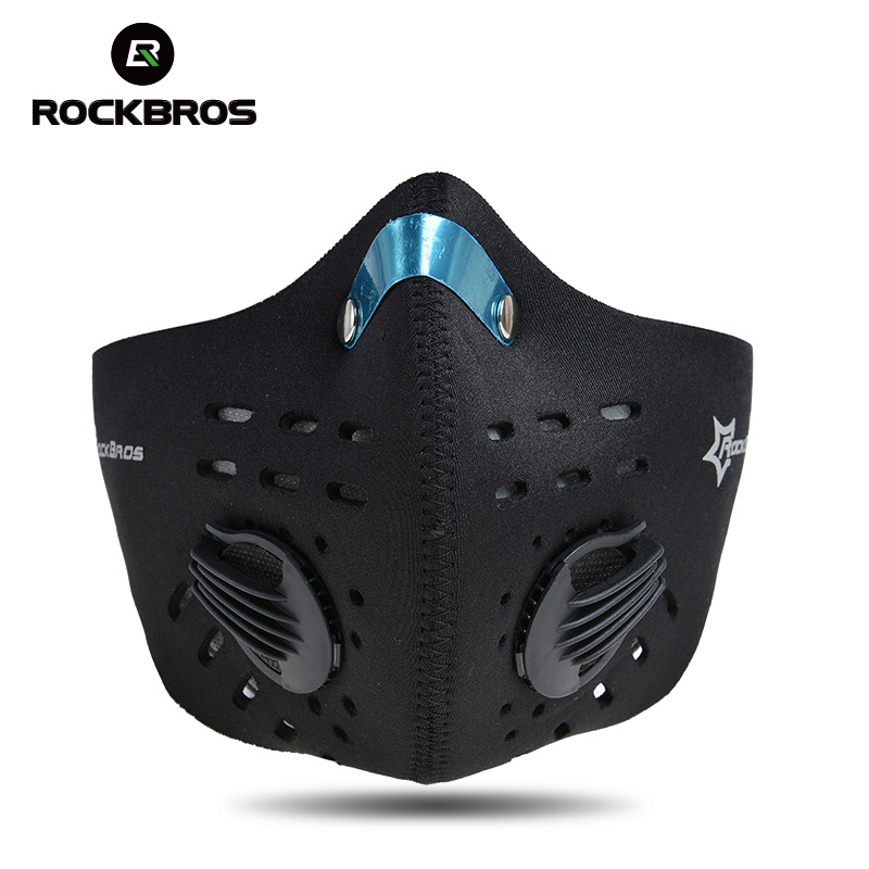 ROCKBROS Cycling Bike Face Cover Outdoor Winter Protection Dust-proof Breathable Mask Bicycle Cycle Equipment Carbon Haze Filter