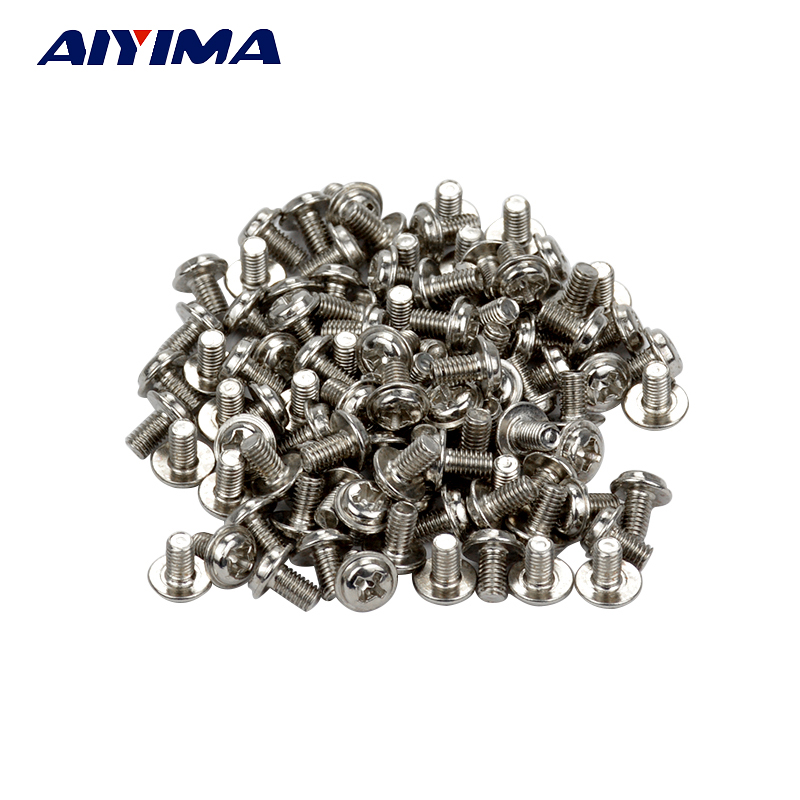 Aiyima 100 M3 Screw M3X5 Computer Floppy DVD ROM Motherboard aiyima 535pcs 21kinds computer screws for motherboard pc case cd rom hard disk notebook screw