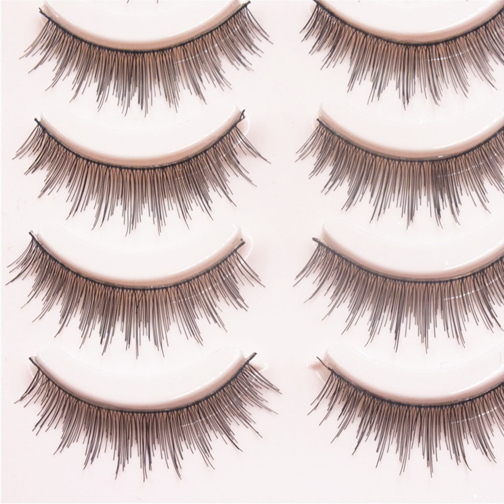 Clearance 5Pair/set Natural Cross Handmade Hair Eye Lashes Extension Crossing Cilios Posticos Thick False Eyelshes For Beauty