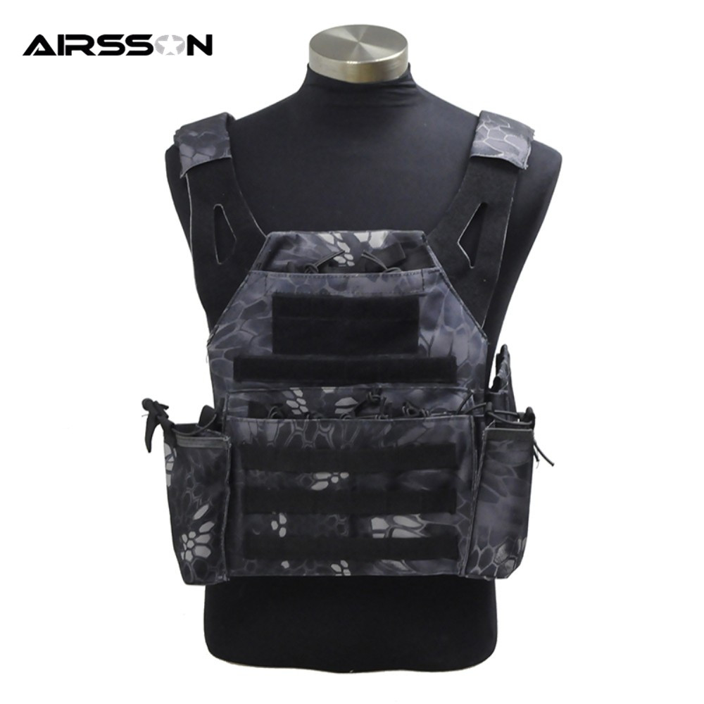 Army Military Airsoft Simplified VT439 Molle Tactical Vest with Water Pouch Magazine Holder CS Game Hunting Combat Rig Armor