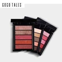 GOGO TALES 5 Color Mousse Eyeshadow Palette Creamy Eye Eye Shadow Waterproof Pro Smoky Eye Liner Gel Shimmer Makeup Kits Warm