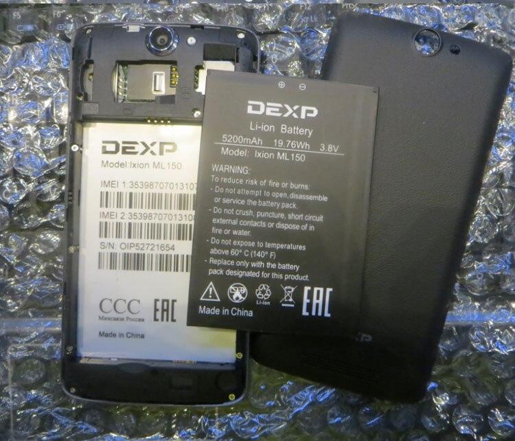 For DEXP IXION ML150 AMPER M batteries 5200mAh Mobile Phone Li-ion Battery Replacement