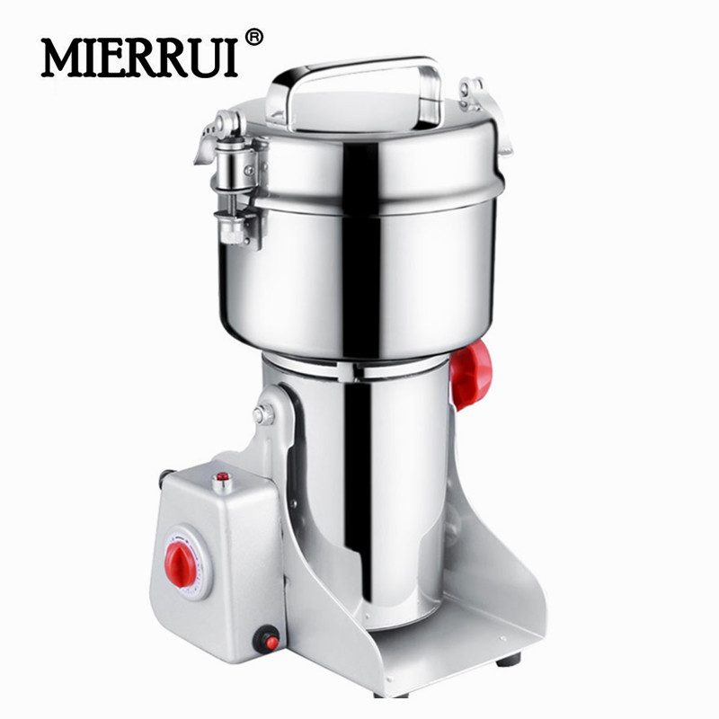 700g Swing Pepper Mills Electric Herbal Powder Mill Dry Food Grinder Machine Ultra-high speed Intelligent Spices Cereals Crusher dry food grinder machine swing type electric grains herbal powder miller high speed spices cereals crusher w ce ccc