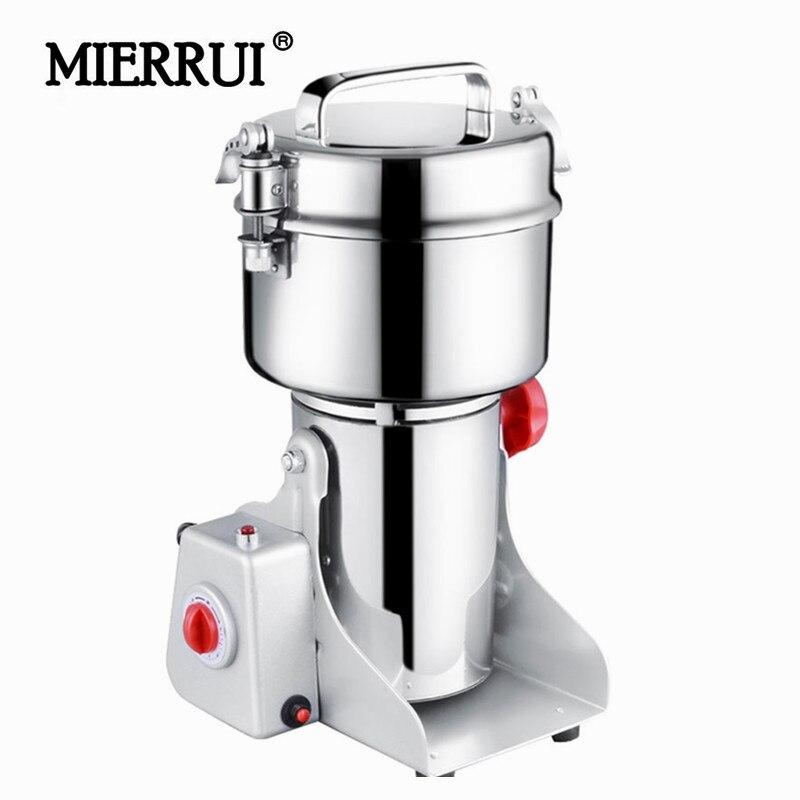 Triturador de cereais inteligente ultra-alta velocidade do moedor de alimentos secos do moinho de pó erval bonde dos moinhos de pimenta do balanço 700g
