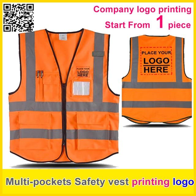 9f9c306b999 SPARDWEAR chaleco reflectante de seguridad estampado logotipo naranja  Chaleco de trabajo uniforme de la empresa envío