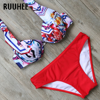 RUUHEE Bikini Swimwear Women Swimsuit Push Up Bathing Suit Sexy Beachwear 2018 Bikini Set Maillot De