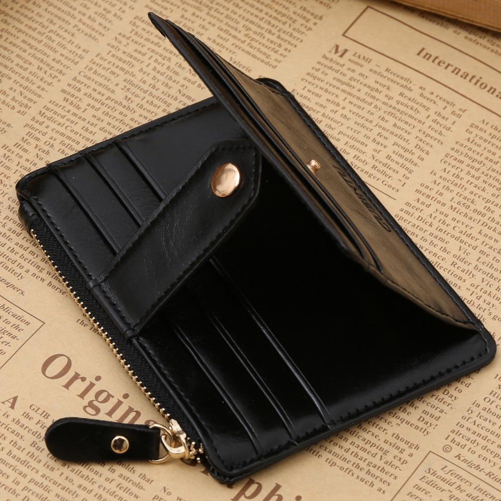 Korean creative zipper multi-function purse multicolor wallet PU leather card bit coin purse