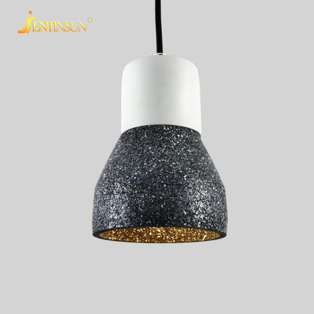 Cement wood american nordic style mini pendant light retro creative cement wood american nordic style mini pendant light retro creative led flashlight shade hanging lamps living mozeypictures Gallery