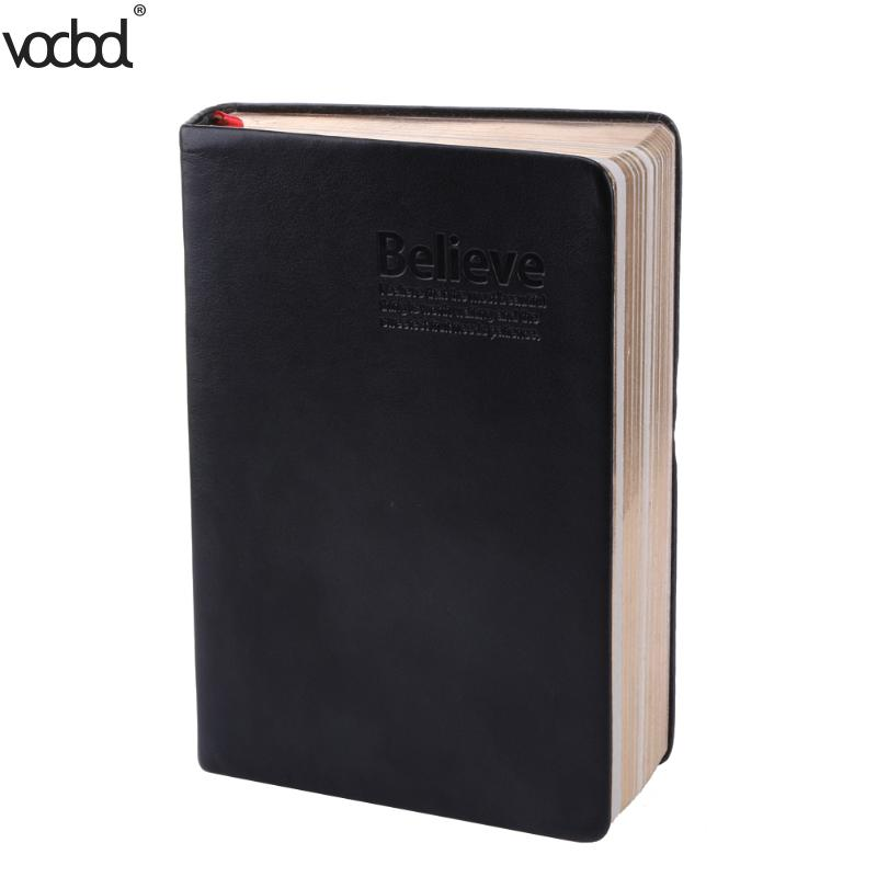 VODOOL Vintage Thick Paper Notebook Notepad Leather Diary Book Journals Agenda Planner School Office Stationery Supplies 1 pcs vintage thick paper notebook notepad leather bible diary book journals agenda planner school office stationery supplies