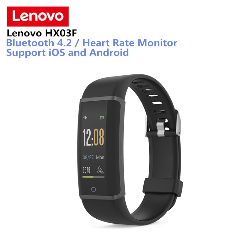 Lenovo HX03F Smart Wristband IP68 Waterproof Fitness Tracker Smart Bracelet Bluetooth 4 Heart Rate Monitor Band For IOS Android original amazfit bip youth edition smart watch gps glonass bluetooth 4 0 heart rate monitor ip68 waterproof android 4 4 ios 8