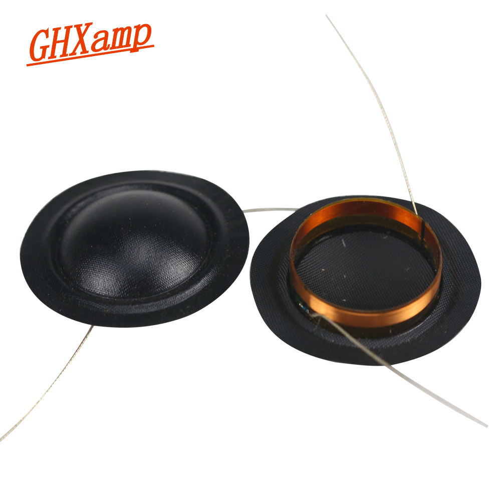 Ghxamp 19.43mm Tweeter Voice Coil 19Core KSV Silk Film Round Copper Winding 19Core 8OHM 2PCS