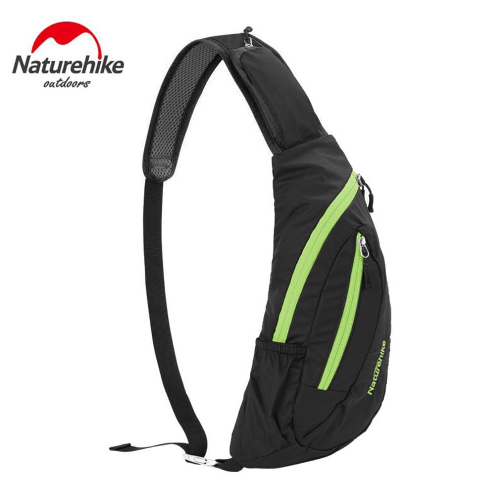 Naturehike Outdoor Vīriešu plecu soma Messenger soma atpūtas tūrisms fitnesa Sporta soma Liela ietilpība krūšu komplekts izjādes mugursoma