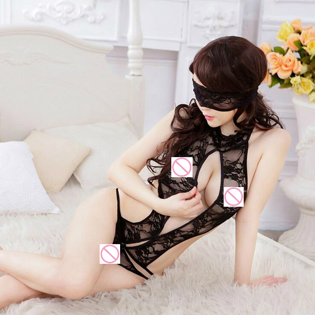 2c8e7f273 Sexy plus size lingerie women sex products solid langerie lingerie sexy  lingerie clothes Black color three point with eyeshade
