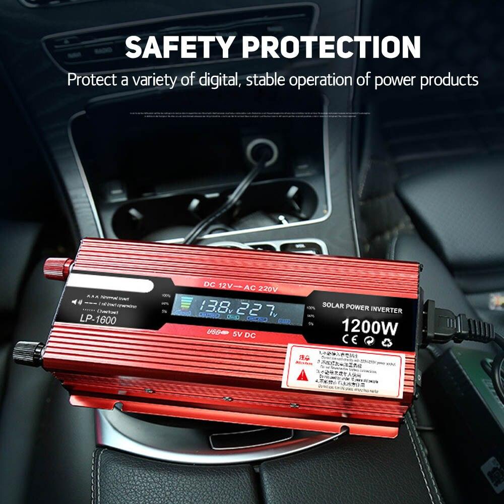 12 В 220 В 2200 Вт 1200 Вт Мощность инвертор Напряжение трансформатор конвертер адаптер Мощность инвертор для автомобиля 12 В 220 В Зарядное устройст...