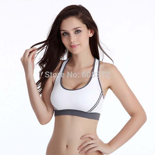 f54c75bbf9a89 Hot sale sexy gymnastics clothing breathable white and black sporters bra  women dress tops