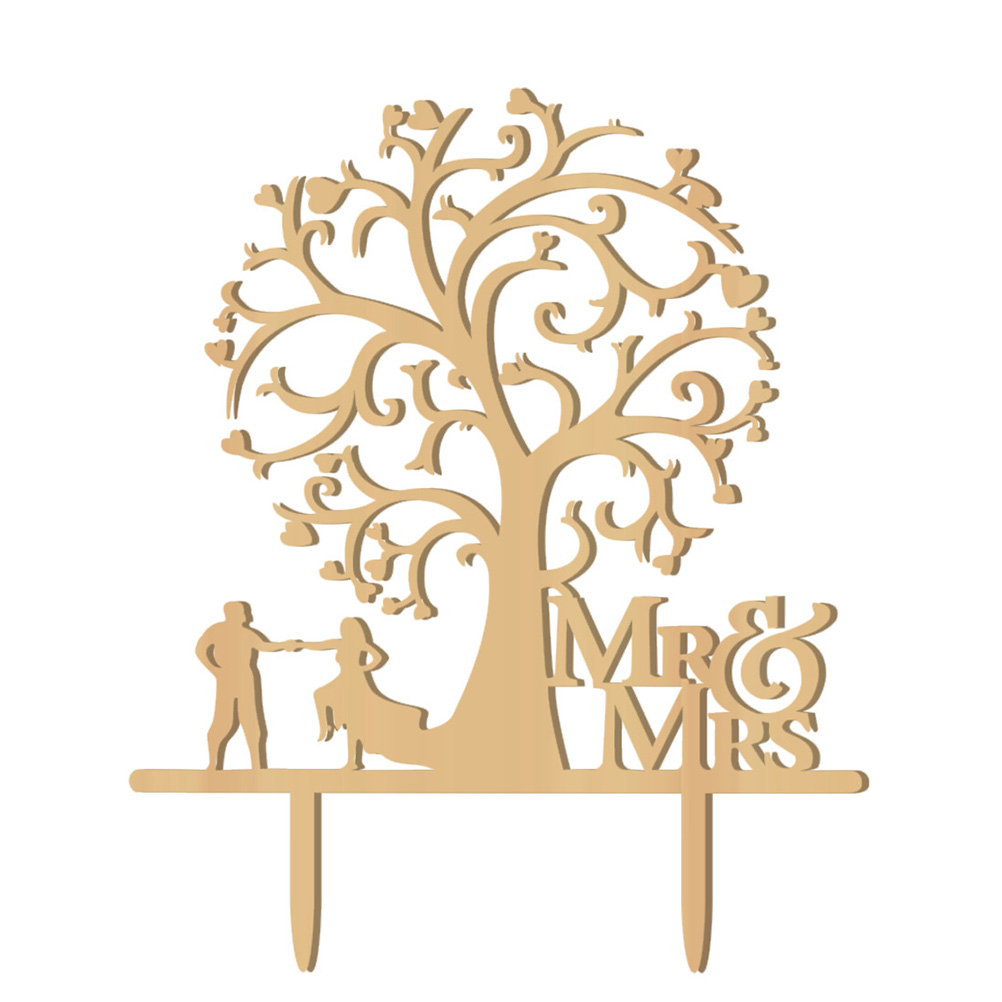 Wood Bird Tree Rustic Wedding Cake topper Engagement Wooden cake topper - Wood letters Cake Decorations Gifts Favors Supplies
