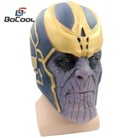 Avengers 3: Infinity Guerra Thanos Maschera Giocattoli Testa Completa Realistica Maschera di Halloween Cosplay Costume Super Hero Mascherina Del Partito Prop